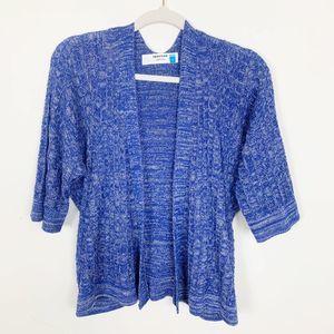 Anthro Sparrow Blue Knit Sweater Size Medium